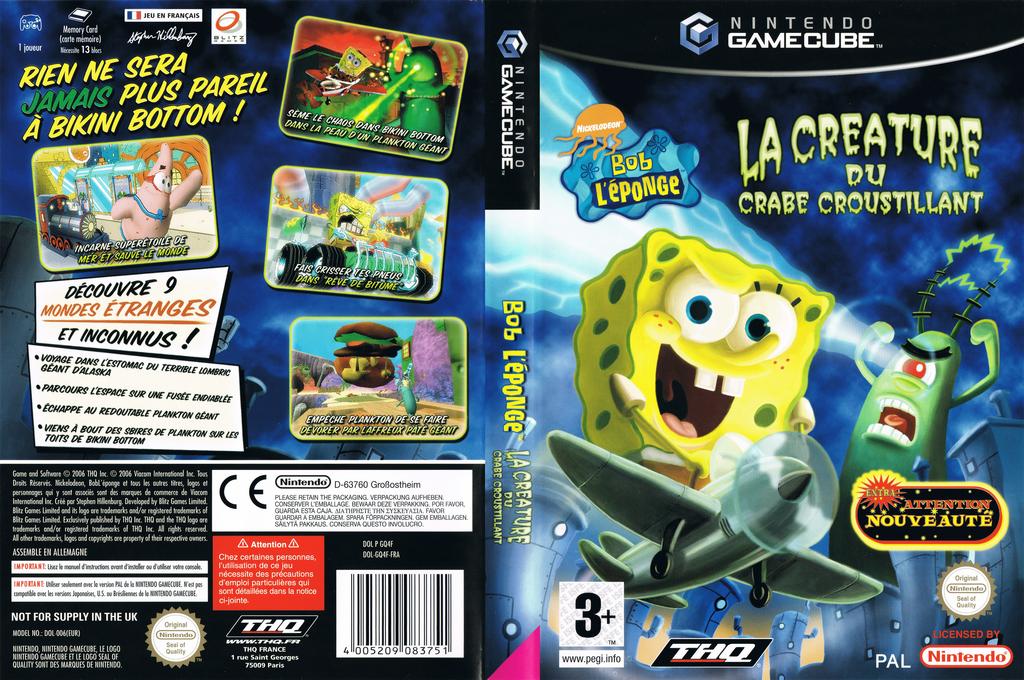 Bob L'éponge: La Créature du Crabe Croustillant Wii coverfullHQ (GQ4F78)