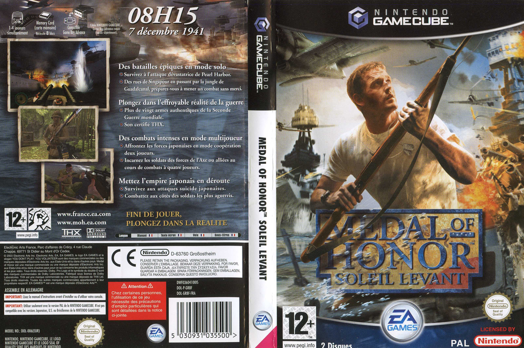 Medal of Honor:Soleil Levant Wii coverfullHQ (GR8F69)