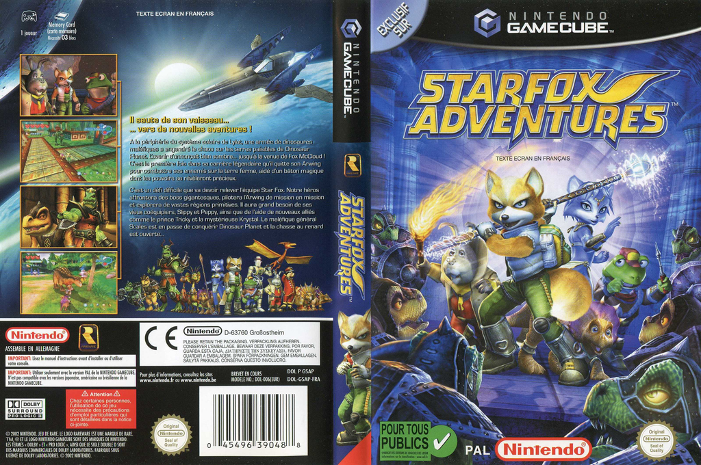 Star Fox Adventures Wii coverfullHQ (GSAP01)