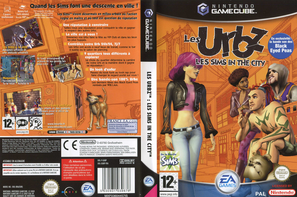 Les Urbz: Les Sims in the City Wii coverfullHQ (GUBP69)