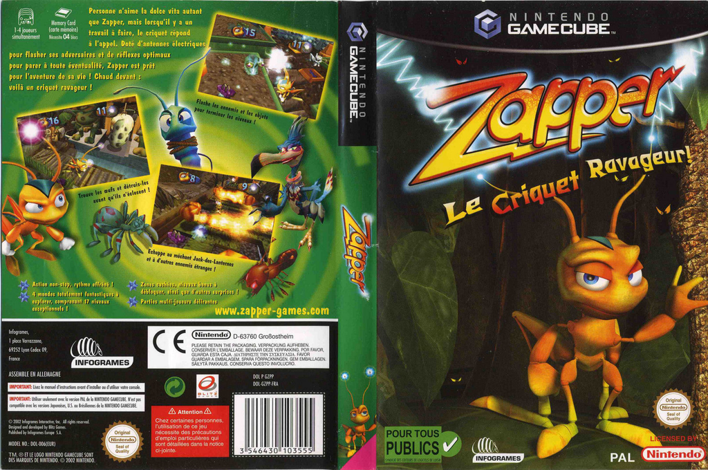 Zapper:Le Criquet Ravageur ! Wii coverfullHQ (GZPP70)