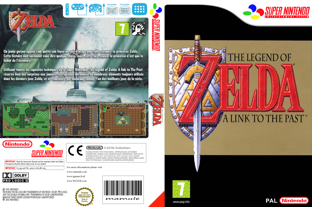 The Legend of Zelda : A Link to the Past Wii coverfullHQ (JADP)