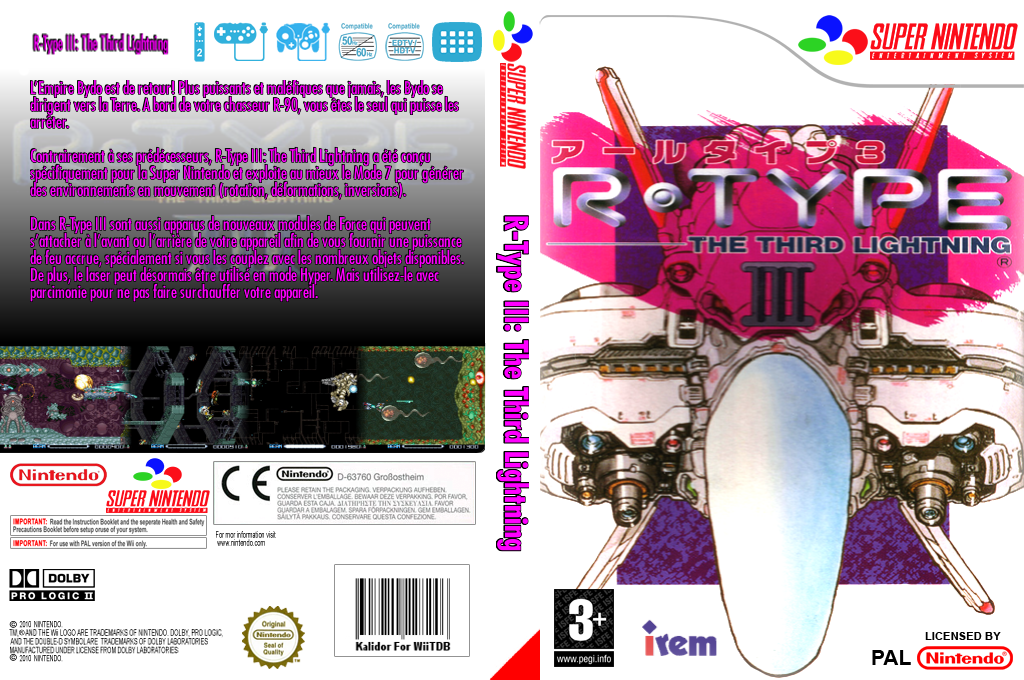 R-TYPE III:The Third Lightning Wii coverfullHQ (JAHP)
