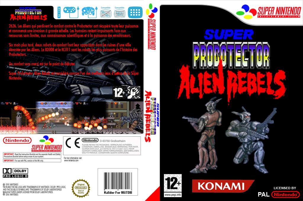 Super Probotector : Alien Rebels Wii coverfullHQ (JALP)
