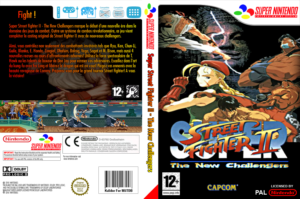 Super Street Fighter II : The New Challengers Wii coverfullHQ (JBBP)