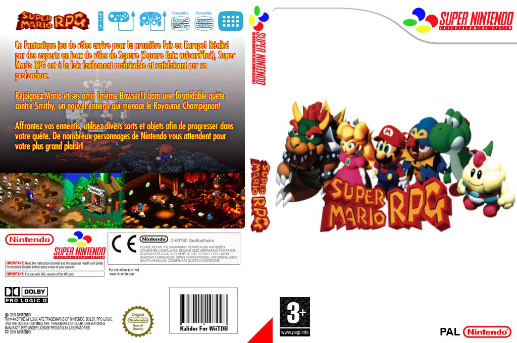 Super Mario RPG : Legend of the Seven Stars Wii coverfullHQ (JCBM)