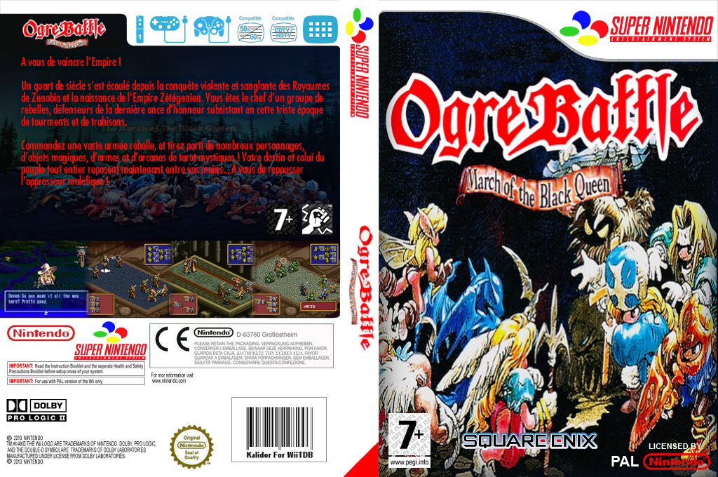 Ogre Battle : The March of the Black Queen Wii coverfullHQ (JCTM)