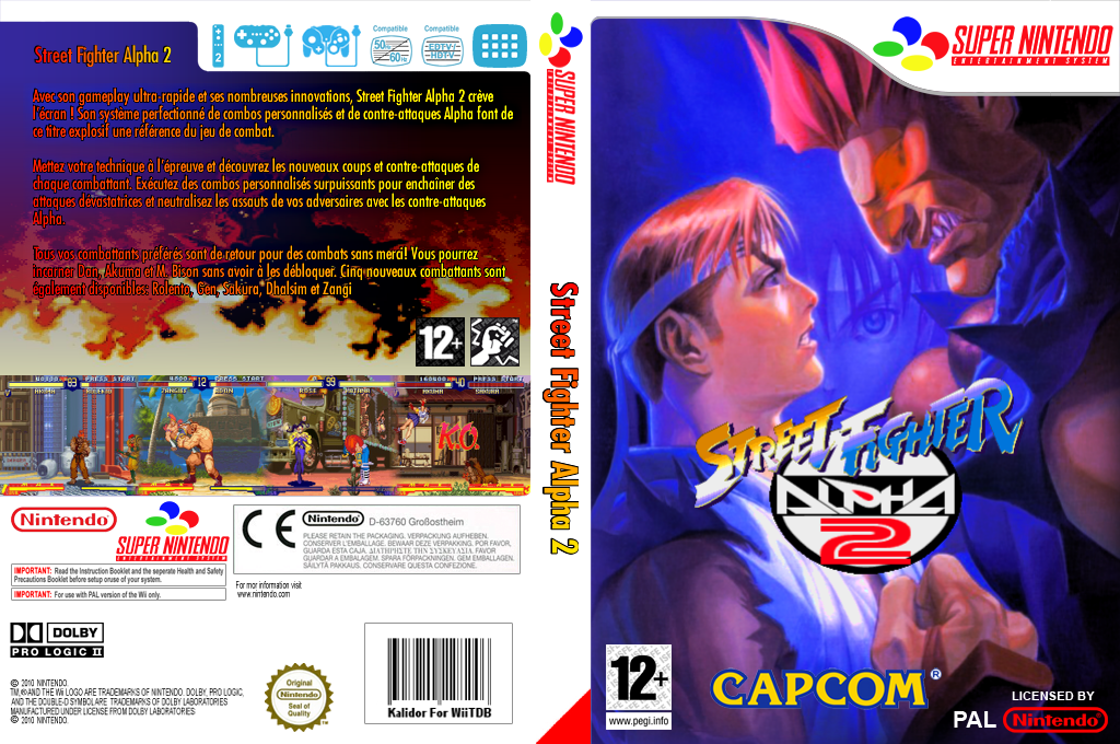 Street Fighter Alpha 2 Wii coverfullHQ (JDCP)