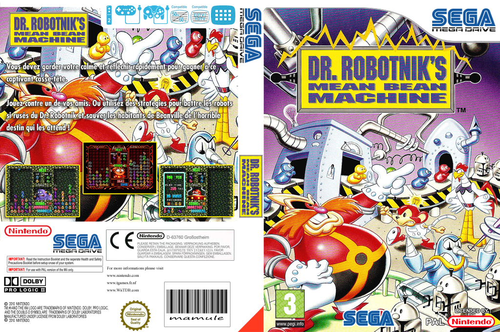 Dr. Robotnik's Mean Bean Machine Wii coverfullHQ (MACP)