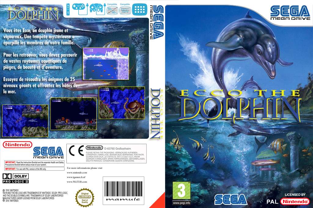 Ecco the Dolphin Wii coverfullHQ (MADP)