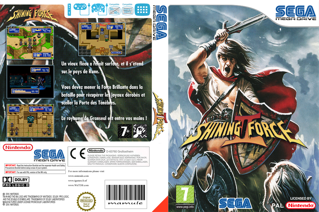 Shining Force II Wii coverfullHQ (MB6P)