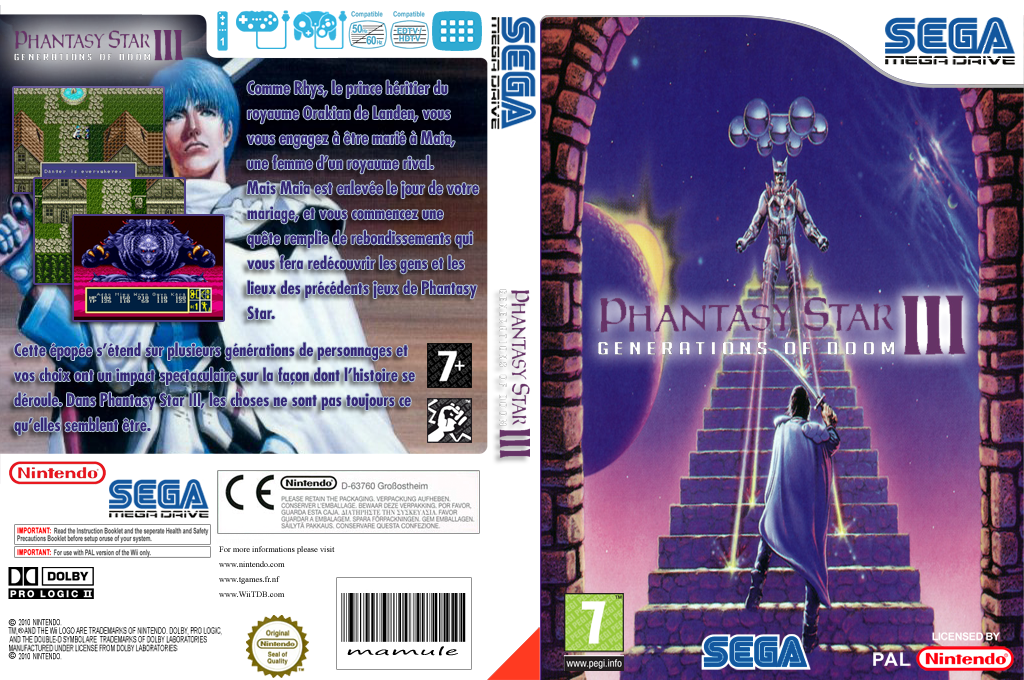 Phantasy Star III: Generations of Doom Wii coverfullHQ (MCCP)