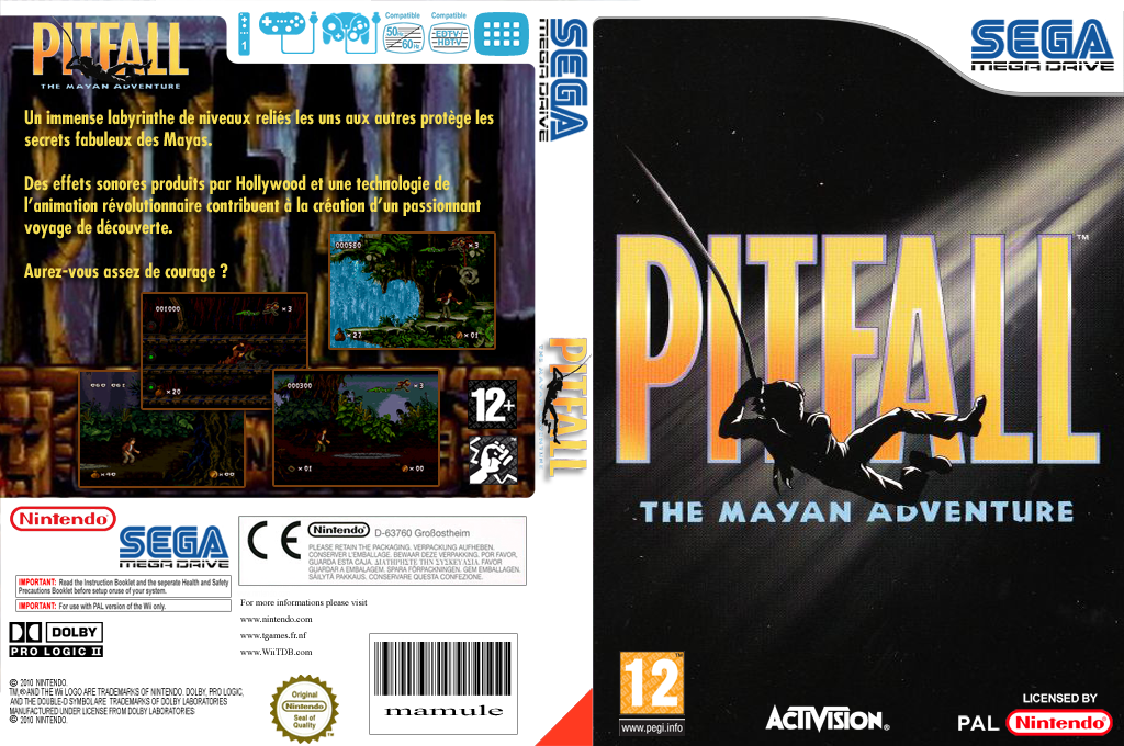 Pitfall: The Mayan Adventure Wii coverfullHQ (MCVP)