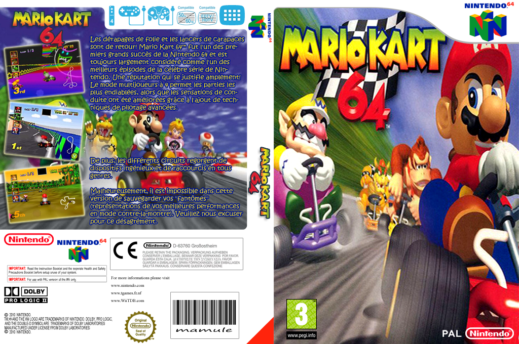 Mario Kart 64 Wii coverfullHQ (NABP)
