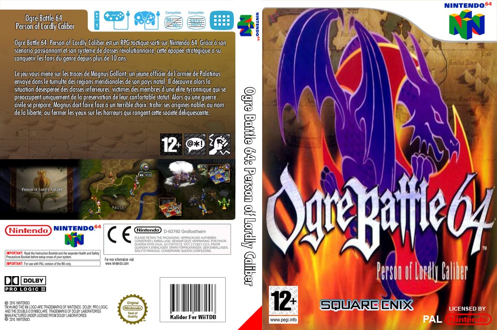Ogre Battle 64: Person of Lordly Caliber Wii coverfullHQ (NAYM)