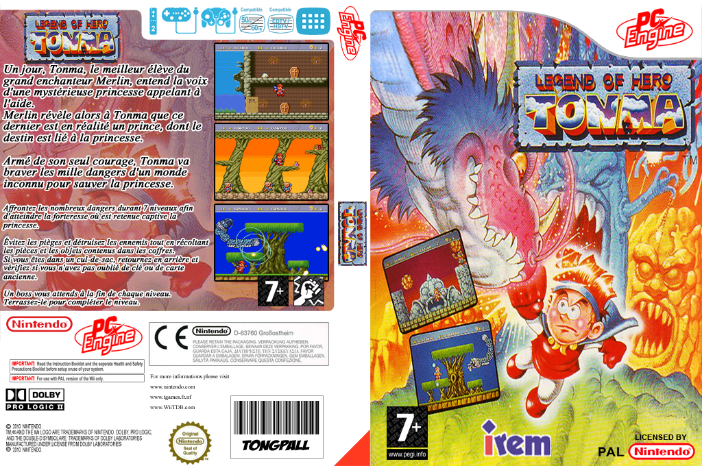 Legend of Hero Tonma Wii coverfullHQ (PBMP)