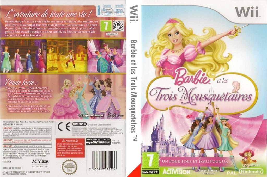 Barbie et les Trois Mousquetaires Wii coverfullHQ (R23P52)
