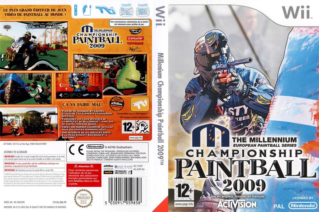 Millennium Championship Paintball 2009 Wii coverfullHQ (R29P52)