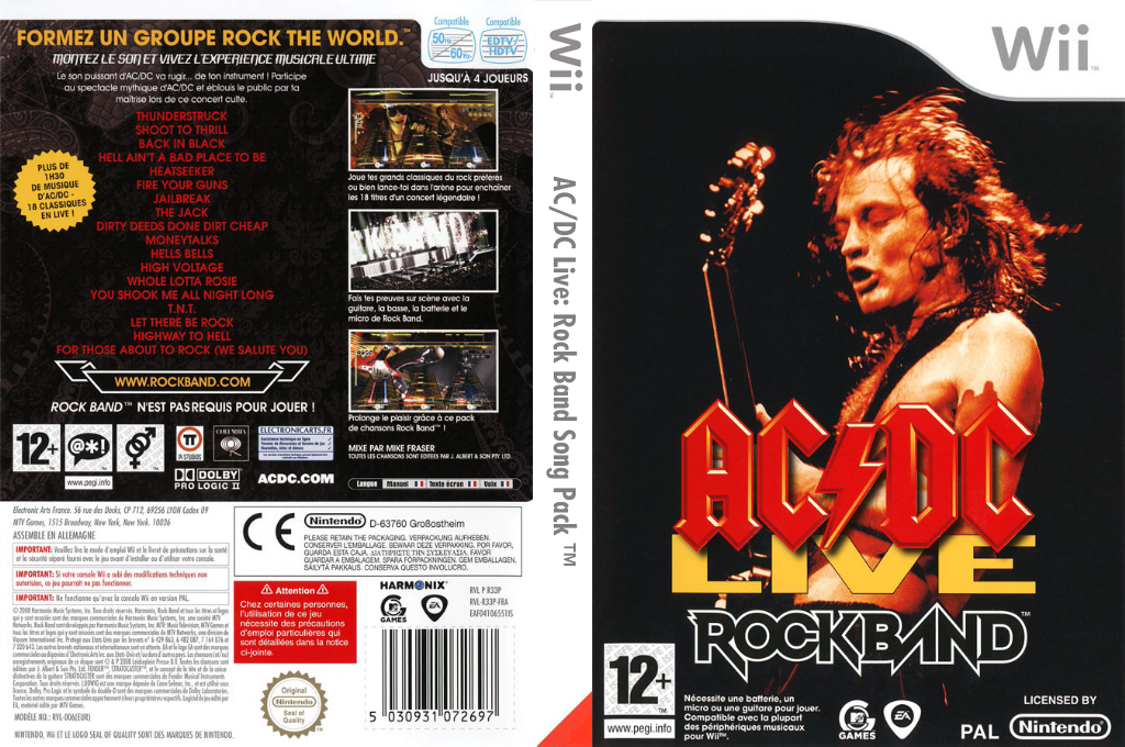 Rock Band:AC/DC Live [Song Pack] Wii coverfullHQ (R33P69)