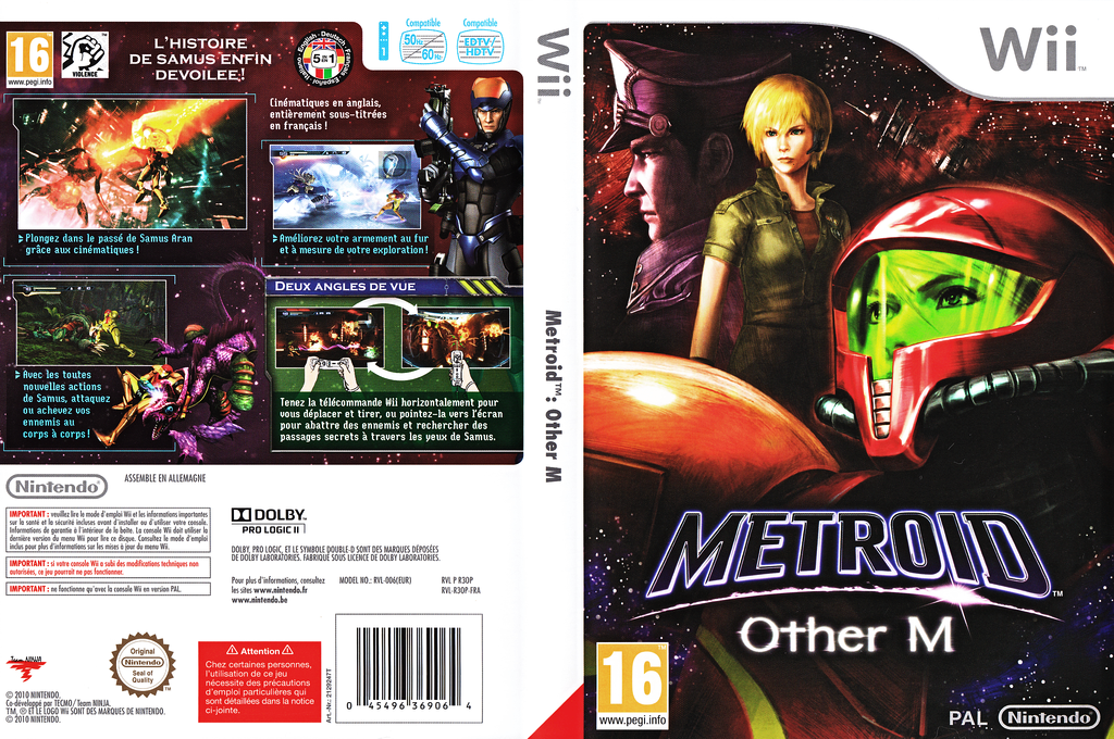 Metroid : Other M Wii coverfullHQ (R3OP01)