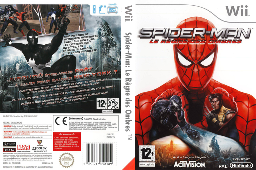 Spider-Man : Le Règne des Ombres Wii coverfullHQ (R3SP52)