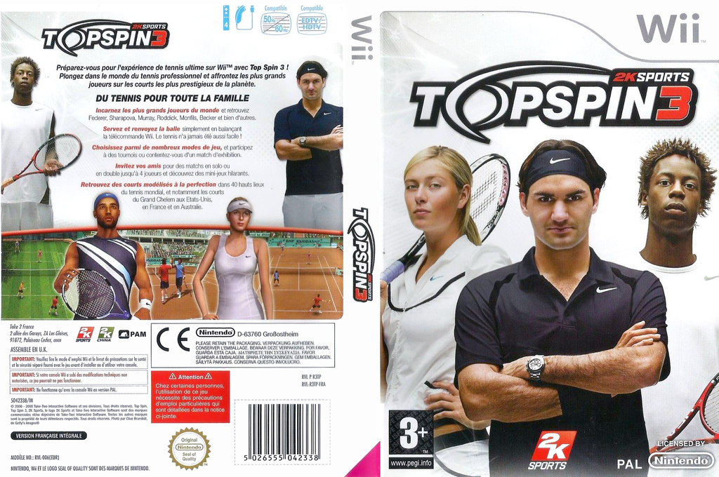 Top Spin 3 Wii coverfullHQ (R3TP54)