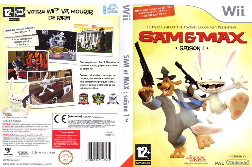 Sam & Max:Saison 1 Wii coverfullHQ (R3XP6V)