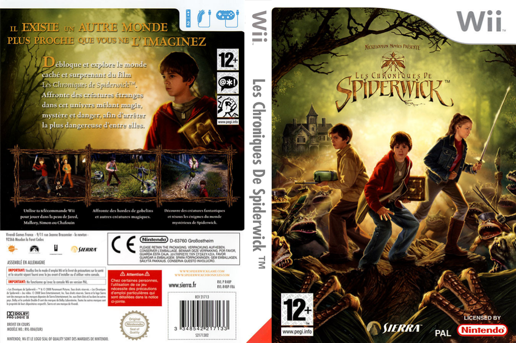 Les Chroniques De Spiderwick Wii coverfullHQ (R48P7D)