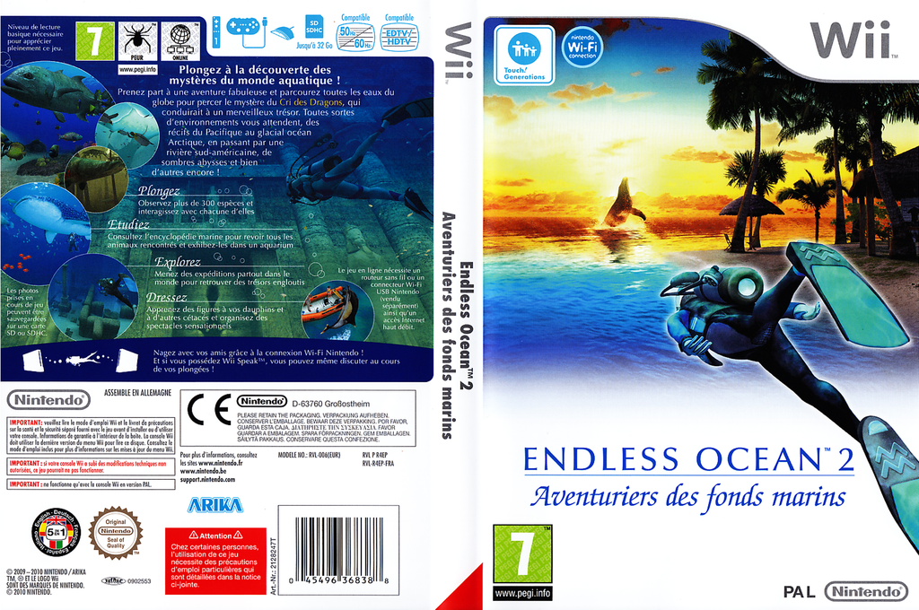 Endless Ocean 2:Aventuriers des Fonds Marins Wii coverfullHQ (R4EP01)