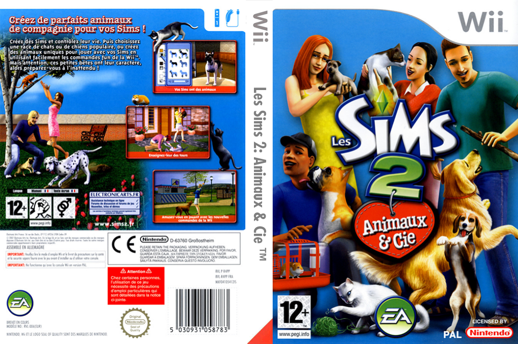 Les Sims 2:Animaux & Cie Wii coverfullHQ (R4PP69)