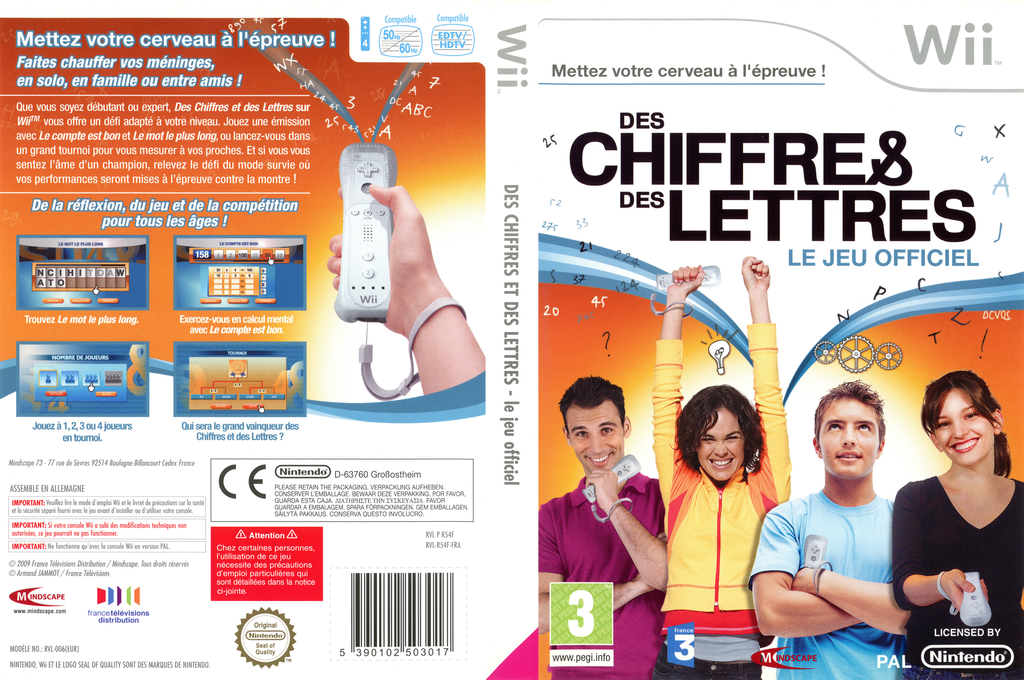 Des Chiffres & des Lettres Wii coverfullHQ (R54FMR)