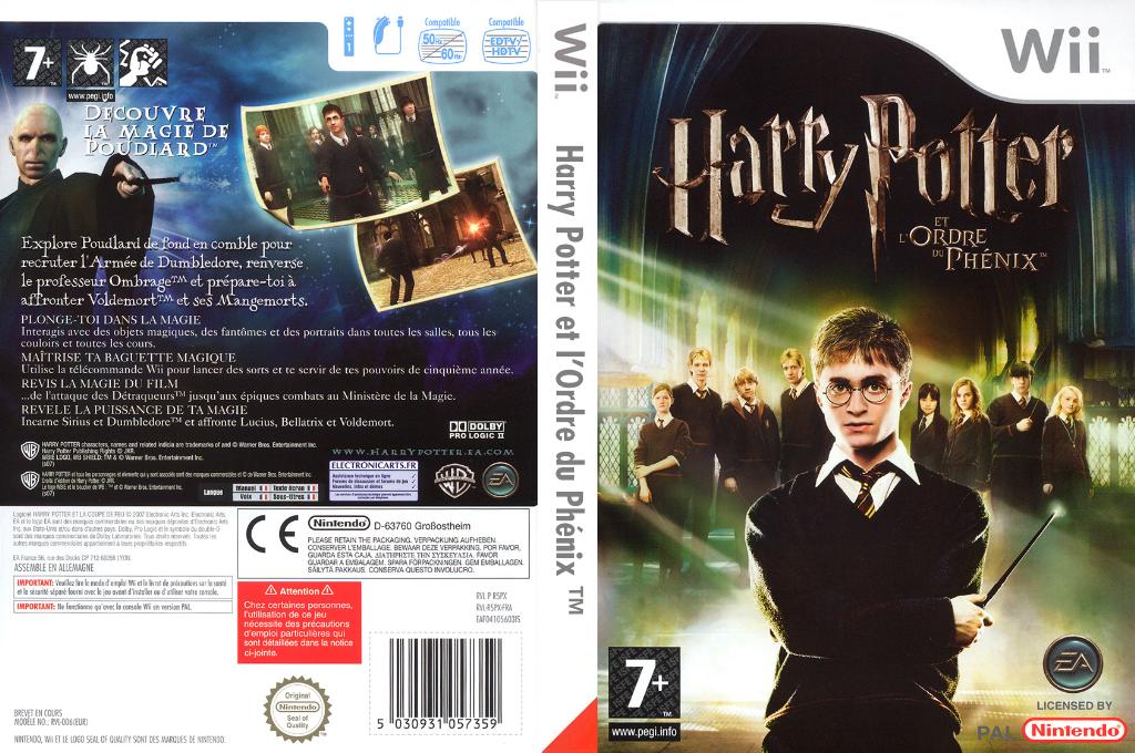 Harry Potter et l'Ordre du Phénix Wii coverfullHQ (R5PX69)