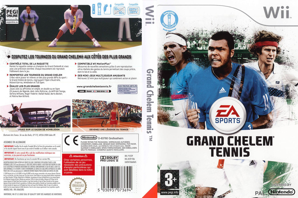 Grand Chelem Tennis Wii coverfullHQ (R5TP69)