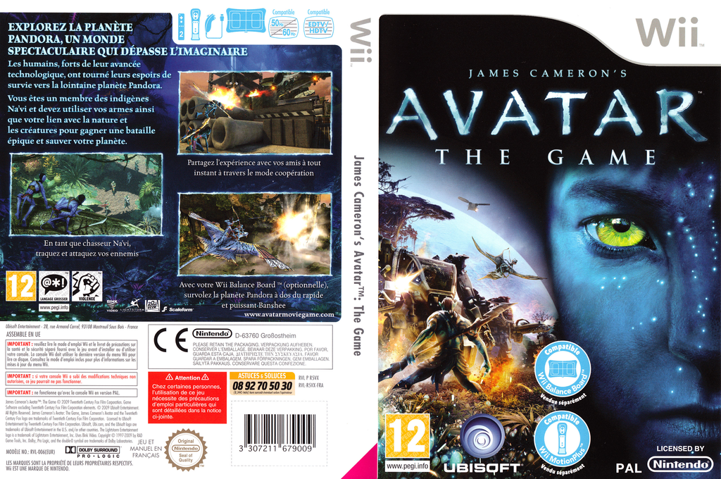 James Cameron's Avatar:The Game Wii coverfullHQ (R5VP41)