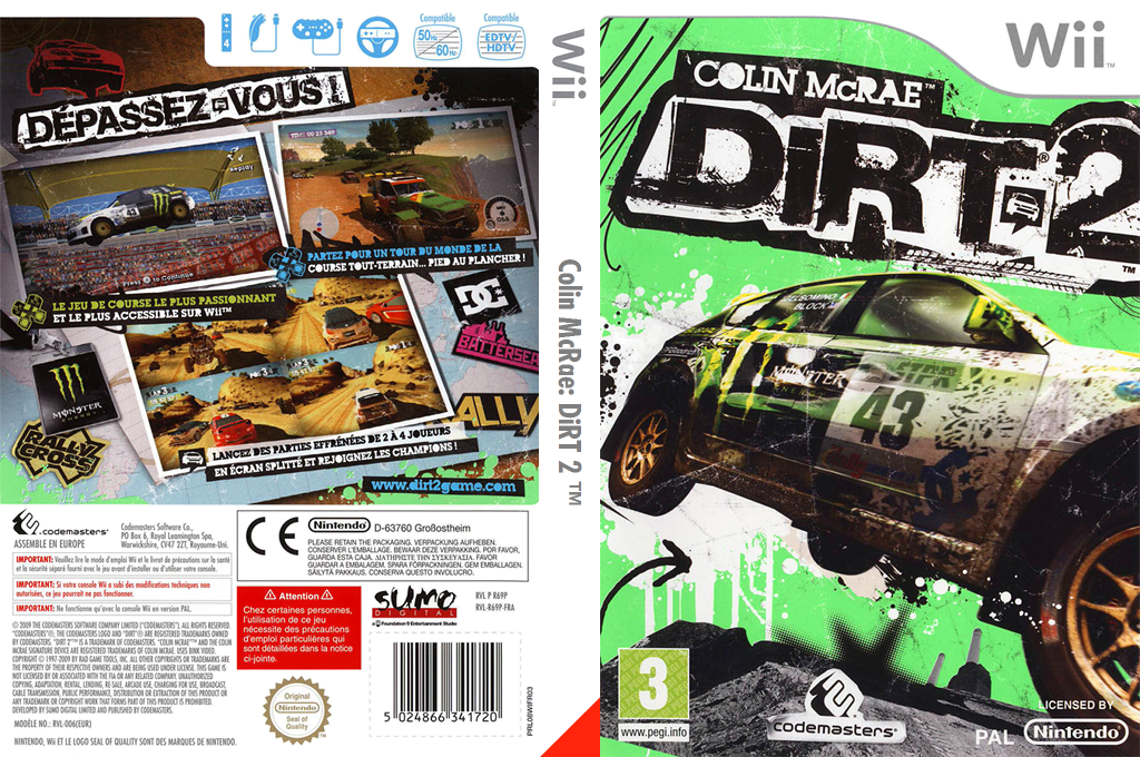 Colin McRae:DiRT 2 Wii coverfullHQ (R69P36)