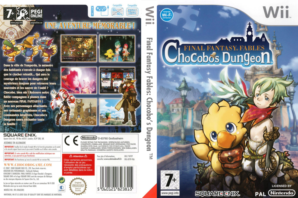 Final Fantasy Fables : Chocobo's Dungeon Wii coverfullHQ (R7FPGD)