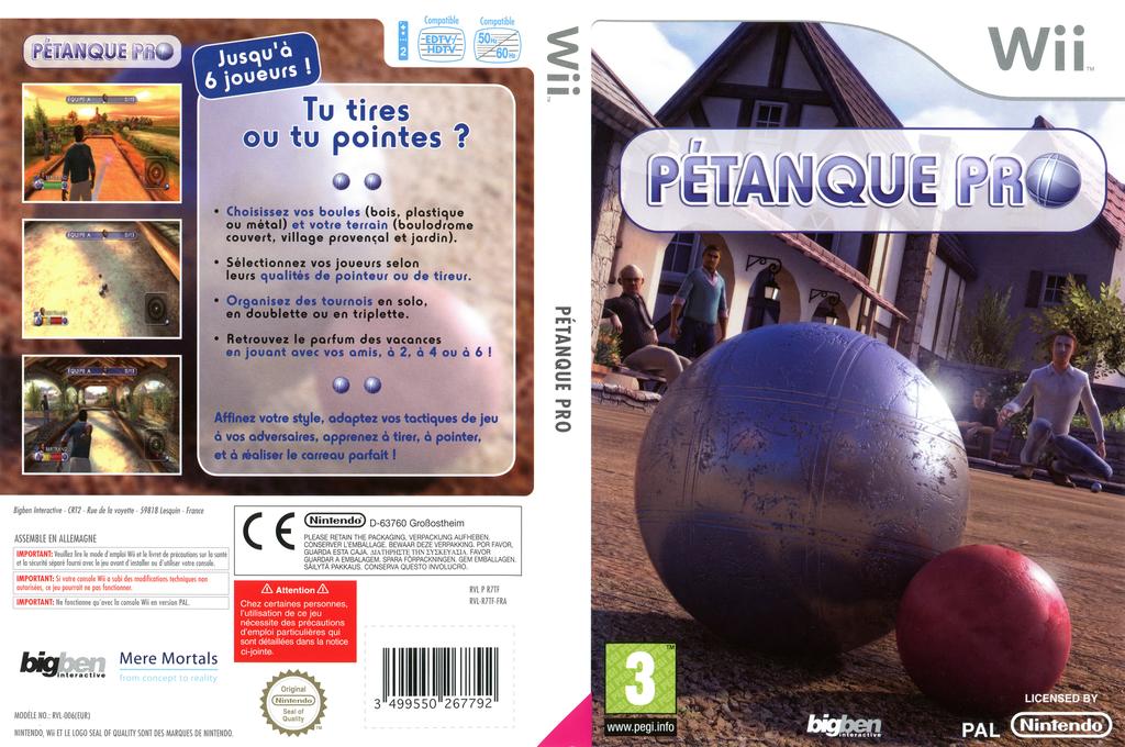 Pétanque Pro Wii coverfullHQ (R7TFJW)