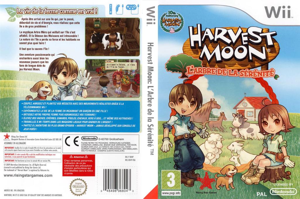 Harvest Moon:L'Arbre de la Sérénité Wii coverfullHQ (R84P99)