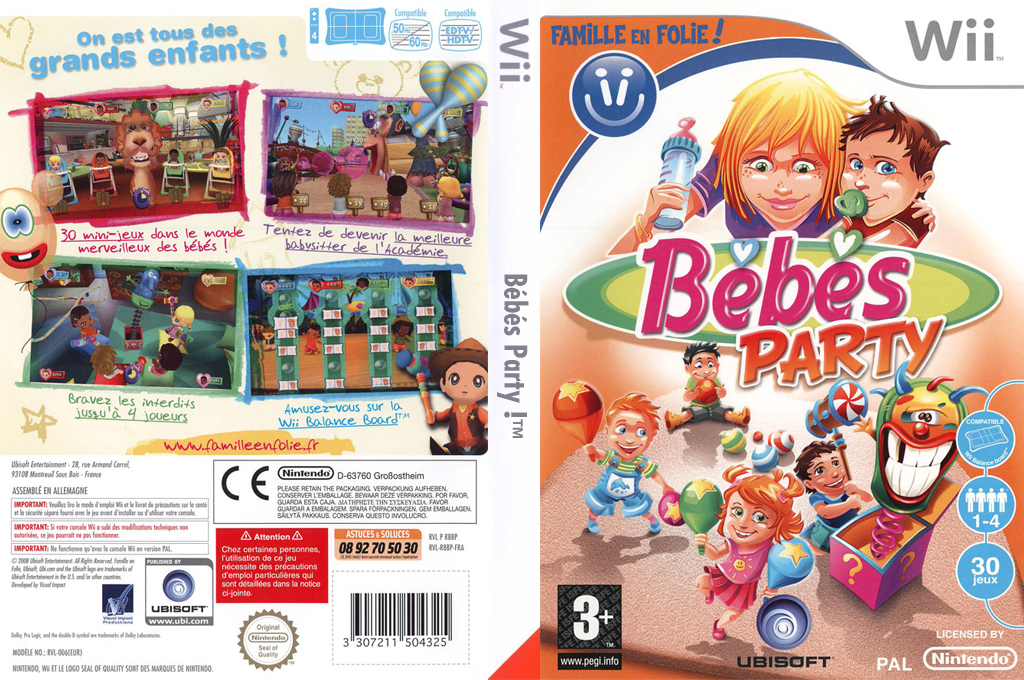Bébés Party Wii coverfullHQ (R8BP41)