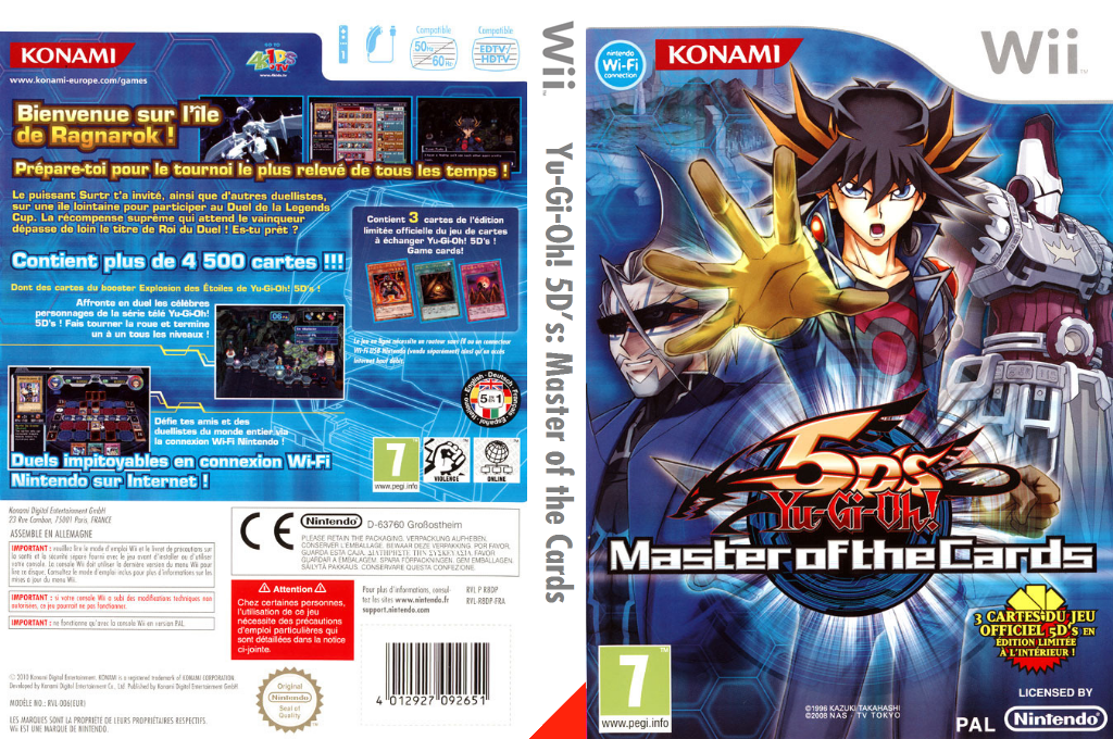 Yu-Gi-Oh! 5D's : Master of the Cards Wii coverfullHQ (R8DPA4)