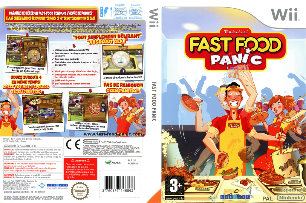 Fast Food Panic Wii coverfullHQ (R8FPNP)