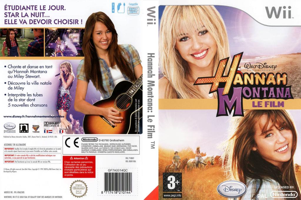 Hannah Montana:Le Film Wii coverfullHQ (R8HX4Q)