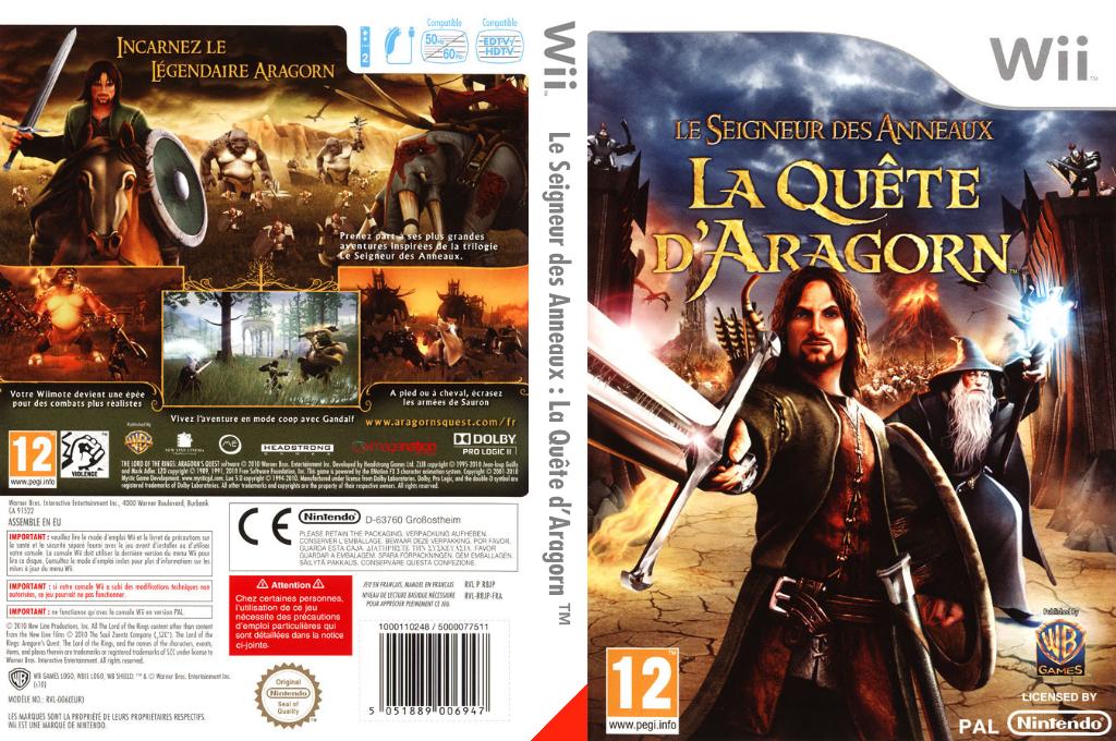 Le Seigneur des Anneaux:La Quête d'Aragorn Wii coverfullHQ (R8JPWR)