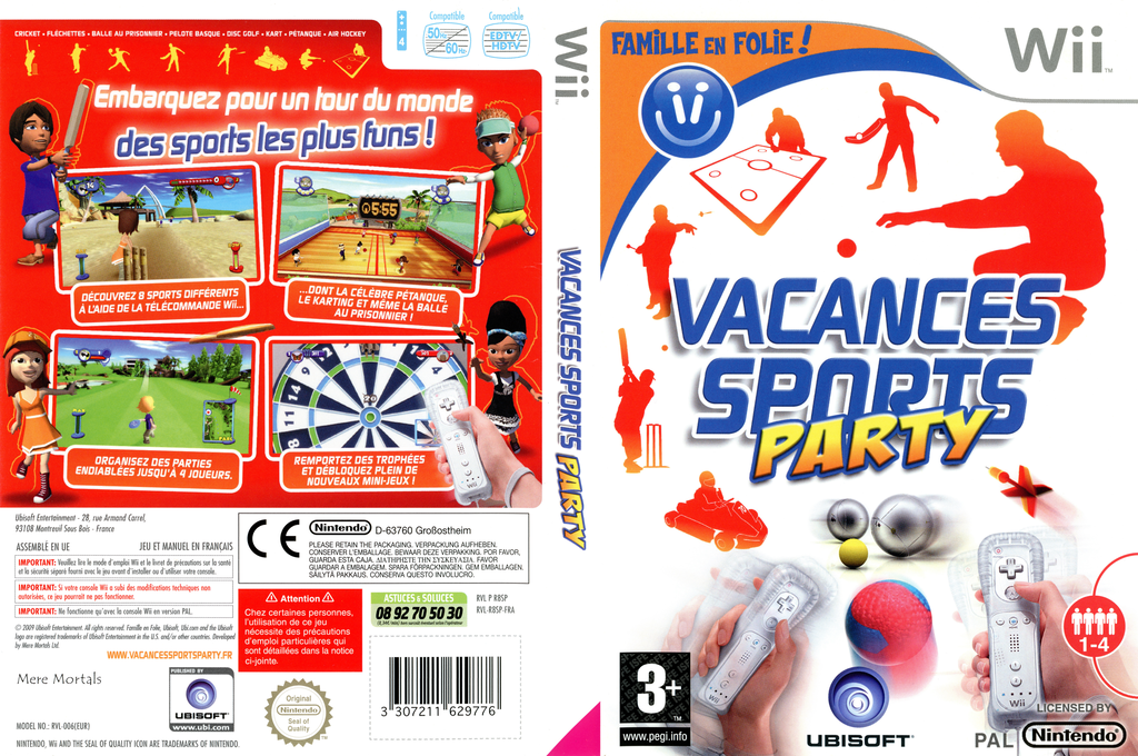 Vacances Sports Party Wii coverfullHQ (R8SP41)