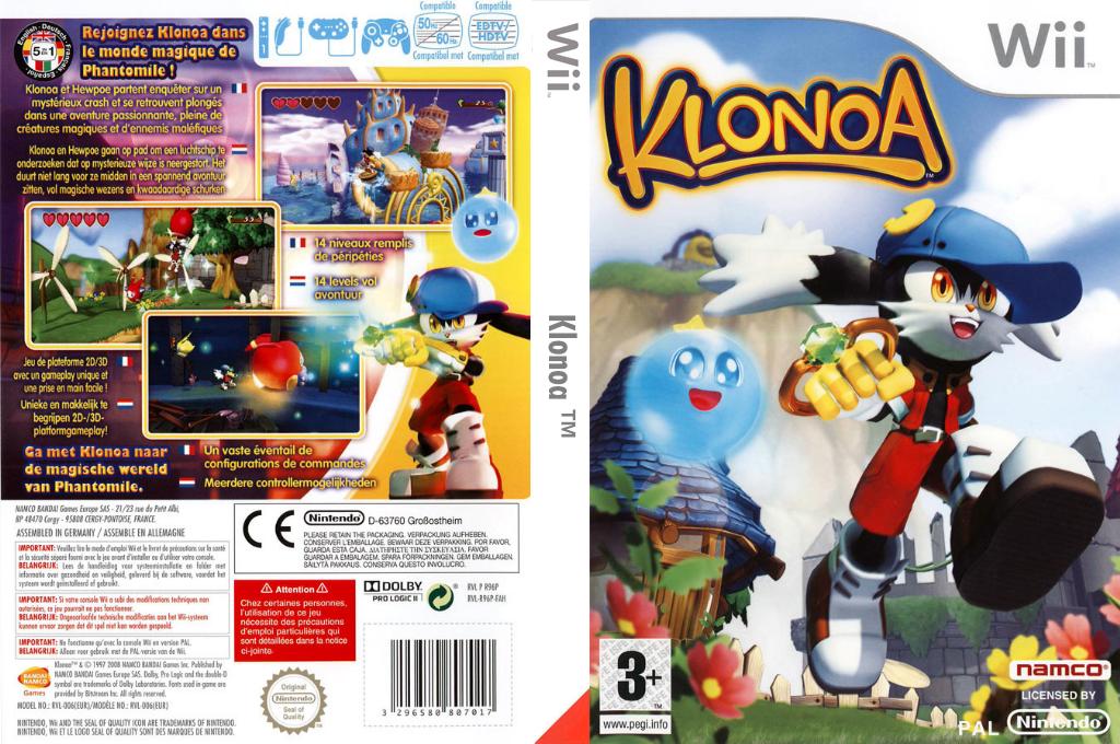 Klonoa Wii coverfullHQ (R96PAF)