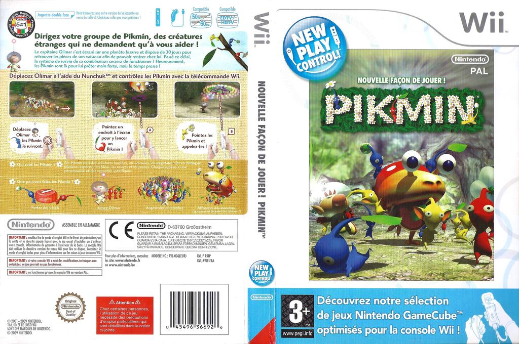 Nouvelle Façon de Jouer ! Pikmin Wii coverfullHQ (R9IP01)