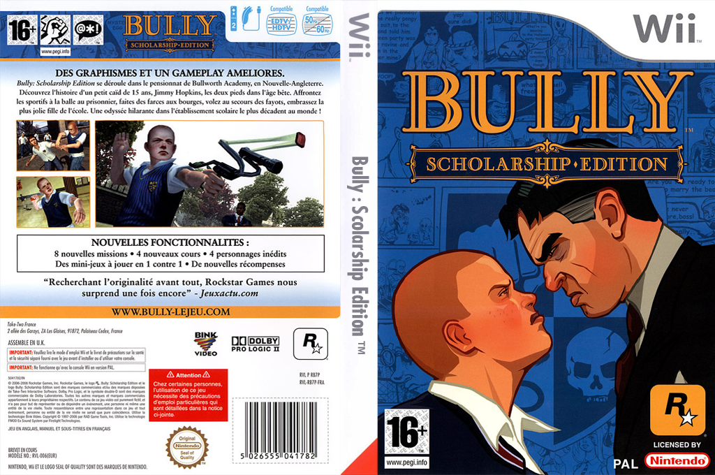 Bully : Scholarship Edition Wii coverfullHQ (RB7P54)