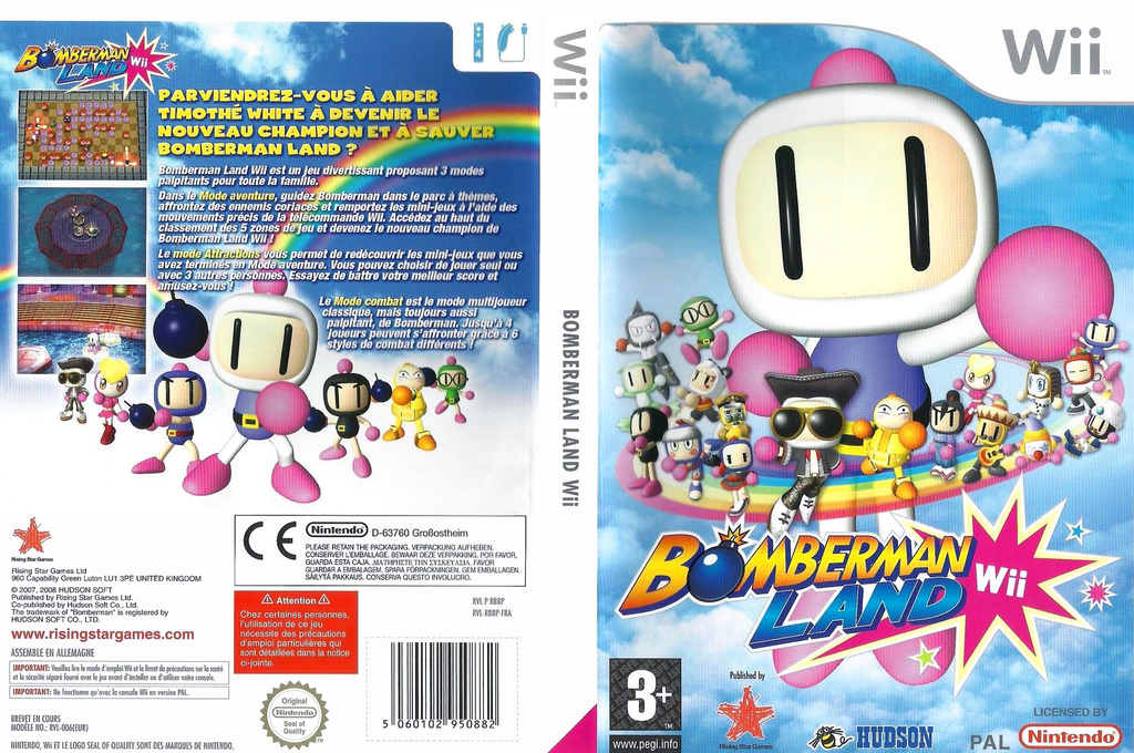 Bomberman Land Wii Wii coverfullHQ (RBBP99)