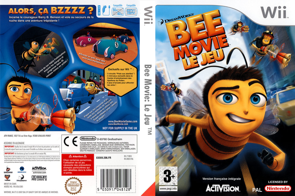 Bee Movie : Le Jeu Wii coverfullHQ (RBEP52)