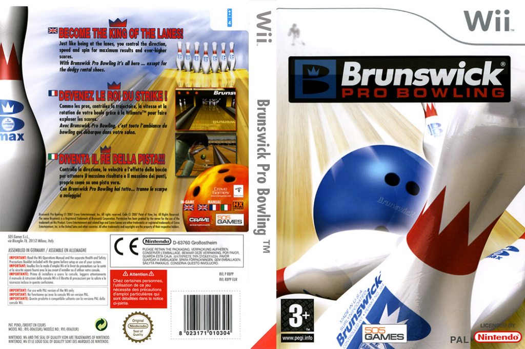 Brunswick Pro Bowling Wii coverfullHQ (RBPPGT)